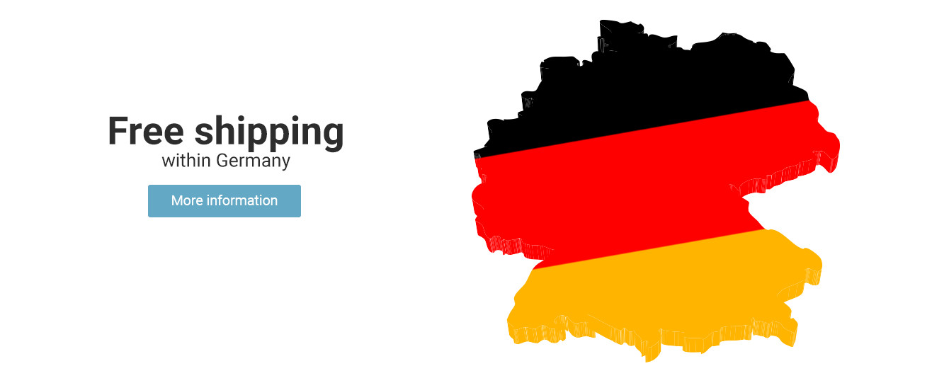 Free shipping -  -     No shipping costs in Germany