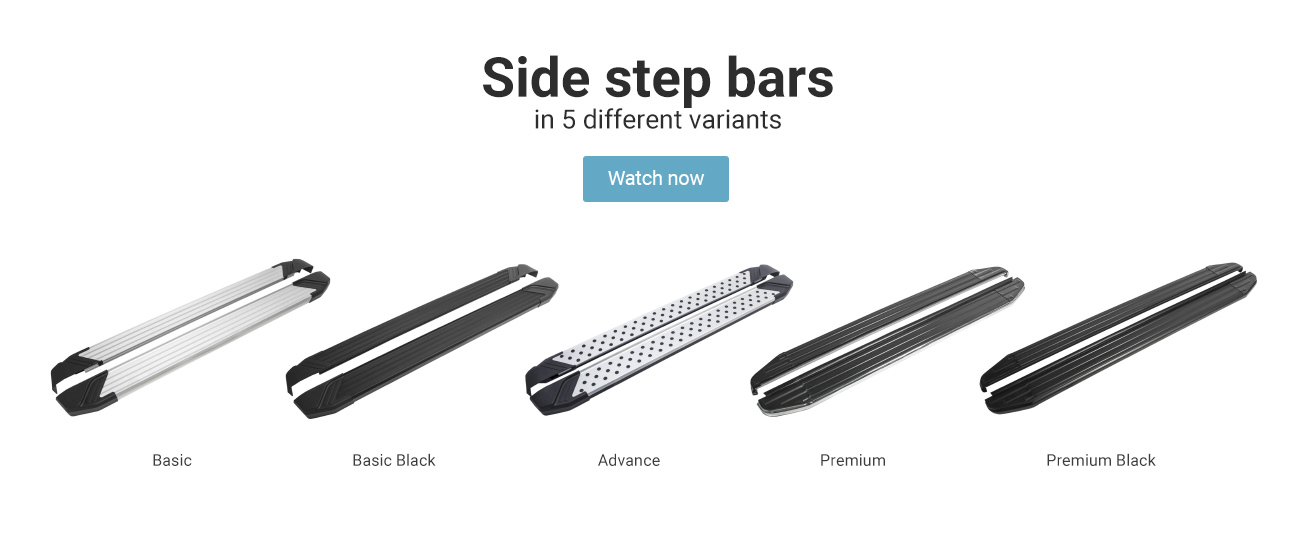 Side step bars -  -     Vehicle-specific manufactured, exactly fitting and compatible